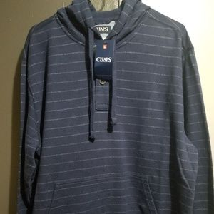 CHAPS NAVY BLUE PULLOVER HOODIE
